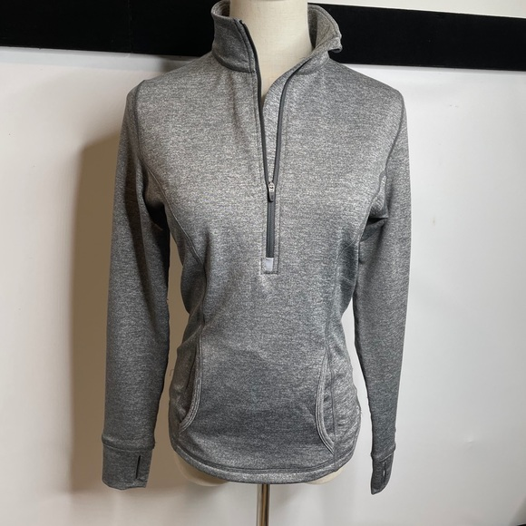 Lucy tech half zip sweatshirt jumper gray Xs